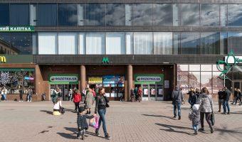 The main entrance to Khreshchatyk Metro Station. Located on Khreshchatyk.