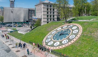 Floral clock, Independence Square, Kiev, Ukraine
